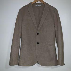 Zara tan blazer with two front pockets